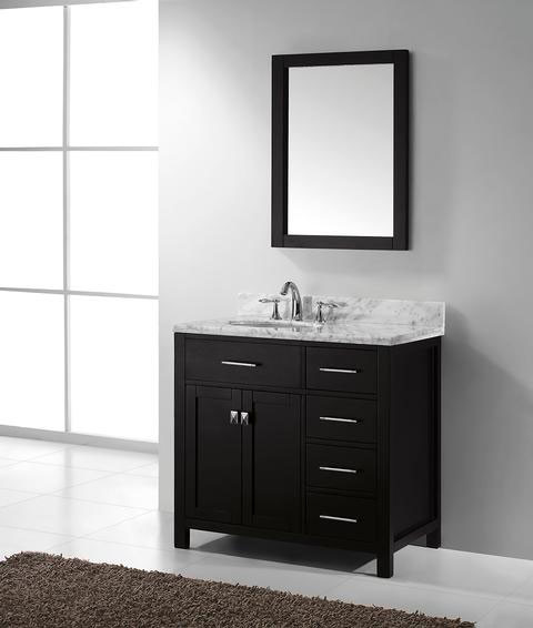 Virtu usa caroline parkway single 36 9 inch right sided for Virtu usa caroline 36 inch single sink bathroom vanity set