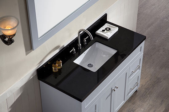 Ariel Hamlet Single 49 Inch Transitional Bathroom Vanity