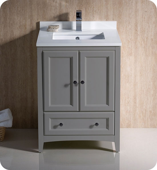 24 Inch Transitional Bathroom Vanity