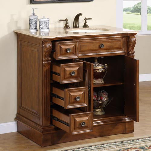Heather (single) 38-Inch Traditional Bathroom Vanity with ...