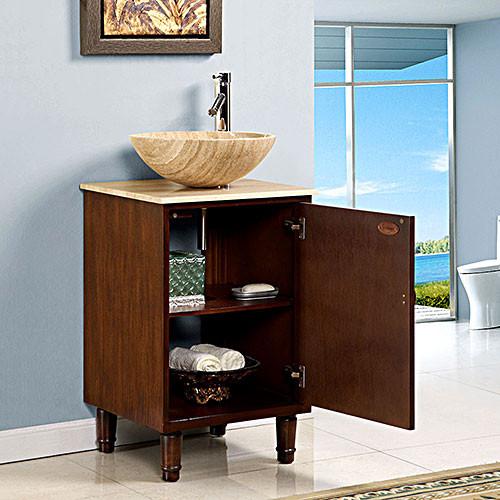 Curtis Single 20 Inch Modern Pedestal Bathroom Vanity