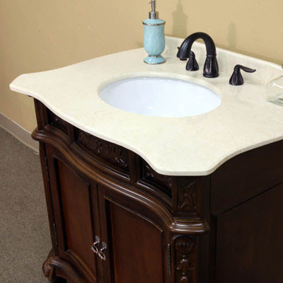 Montreal Single Inch Traditional Bathroom Vanity With Mirror Option - Bathroom vanities montreal