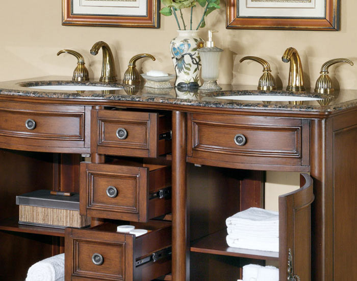 Hera Double 52 Inch Traditional Bathroom Vanity