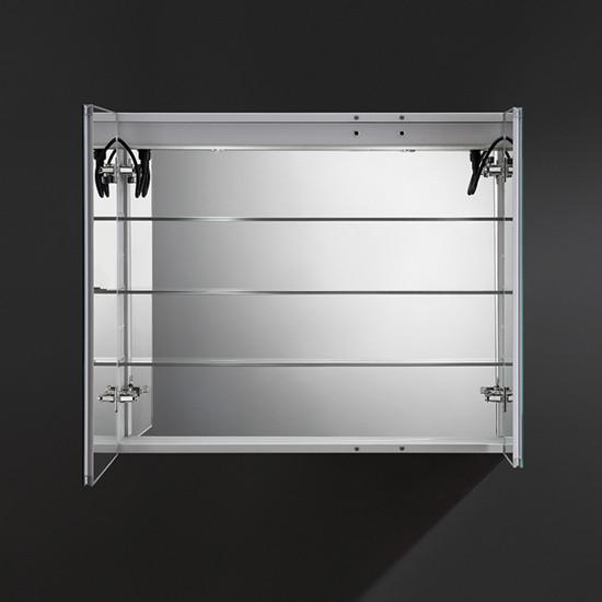 Fresca Tiempo 36x30 Inch Mirrored Medicine Cabinet With