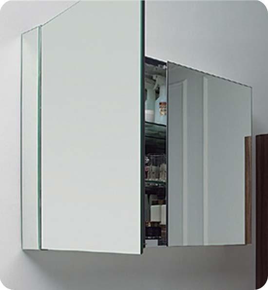 Fresca Fmc8010 40 Inch Mirrored Bathroom Medicine Cabinets Glass