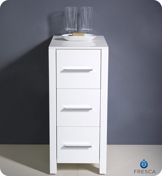 Fresca Torino 12 Quot Transitional Bathroom Linen Side Cabinet White