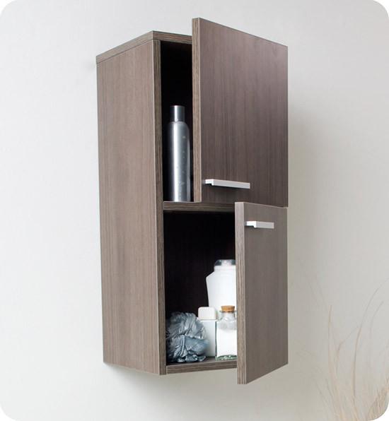 Fresca 12.6-Inch Modern Wall-Mount Bathroom Linen Side Cabinet