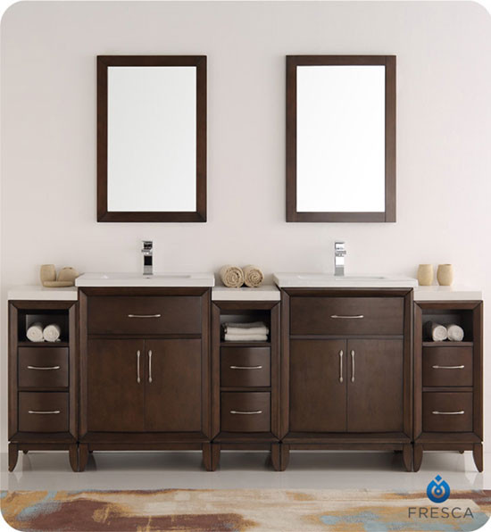 Fresca Cambridge Double 84 Inch Modern Bathroom Vanity