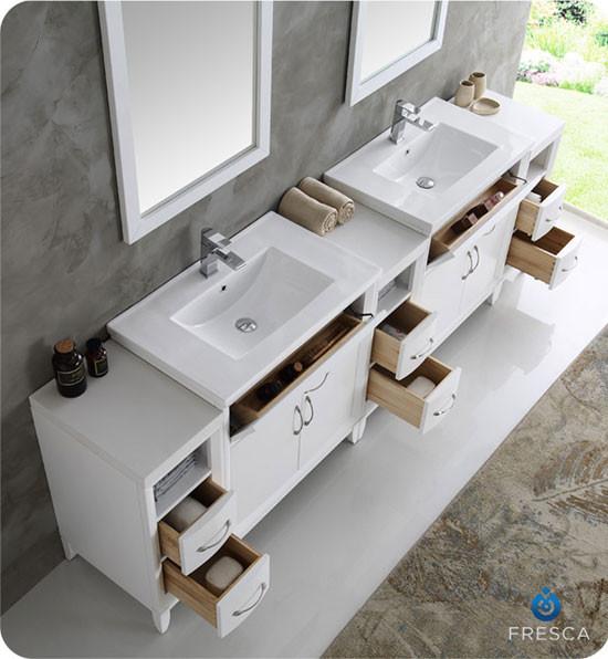 Fresca Cambridge Double 96 Inch Modern Bathroom Vanity