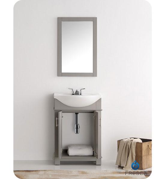Fresca Hartford Single 23 6 Inch Modern Bathroom Vanity Gray