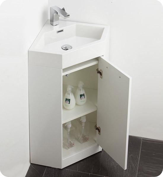 Fresca Coda (single) 17.5-Inch Modern Corner Bathroom ...