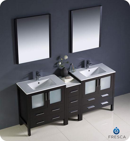 Fresca Torino Double 72 Inch Modern Bathroom Vanity
