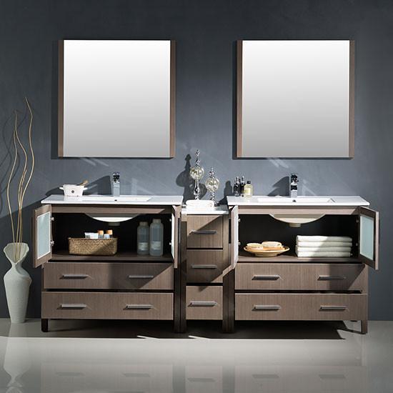 Fresca Torino Double 83 5 Inch Modern Bathroom Vanity
