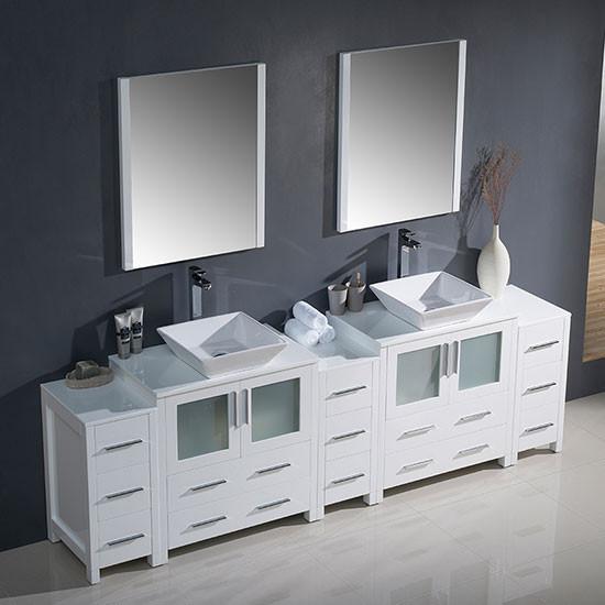 96 Inch Bathroom Vanity Home Depot: Fresca Torino (double) 96-inch Modern Bathroom Vanity