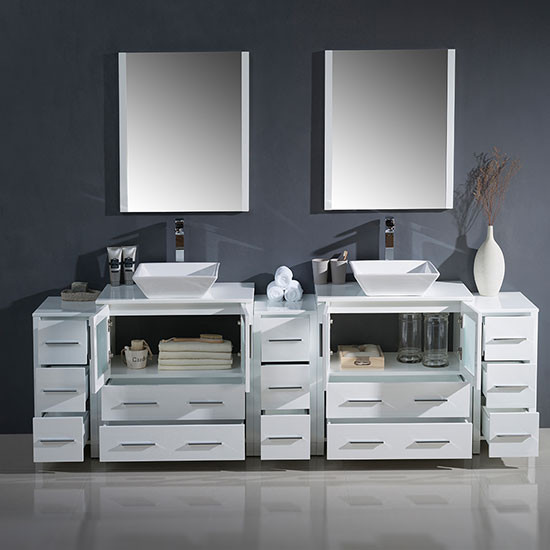 Fresca Torino Double 96 Inch Modern Bathroom Vanity