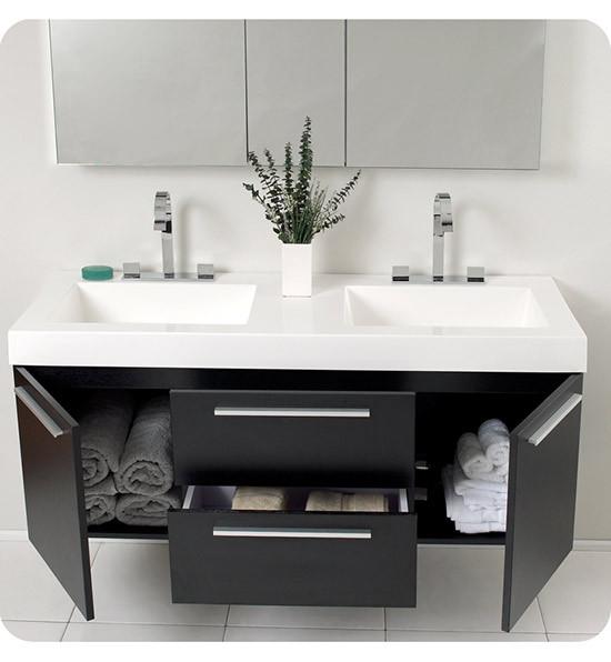 Webb Furniture Dresser With Mirror: Fresca Opulento (double) 54-Inch Modern Wall-Mount
