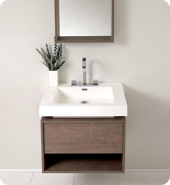 Fresca Potenza 27 4 Inch Modern Wall Mount Bathroom Vanity