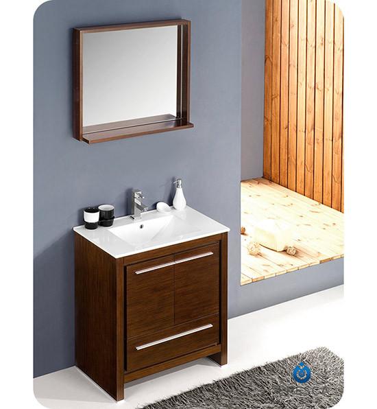 Fresca allier single 30 inch modern bathroom vanity for Levi 29 5 single modern bathroom vanity set