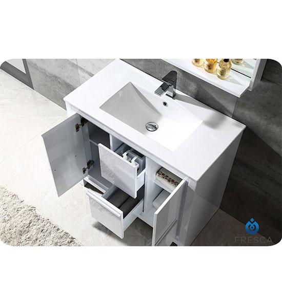 Fresca Allier (single) 35.38-inch Modern Bathroom Vanity ...