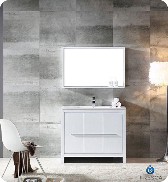 Fresca Allier (single) 39.38-inch Modern Bathroom Vanity ...