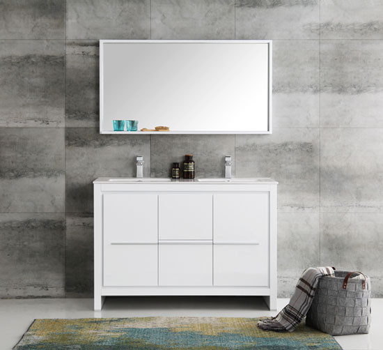 Fresca Allier (double) 47.38-inch Modern Bathroom Vanity ...