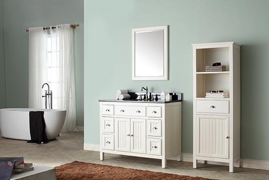 Avanity Hamilton Single 43 Inch Transitional Bathroom Vanity French White