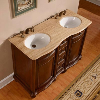 Hera Double 52 Inch Traditional Bathroom Vanity