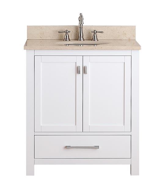 avanity modero single 30inch white vanity cabinet u0026 optional countertops