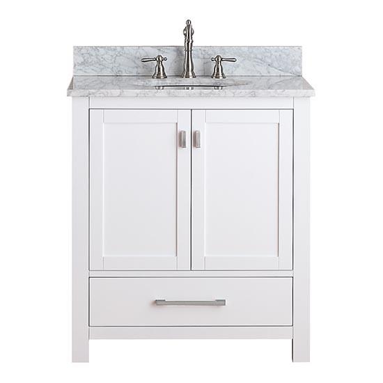 Avanity modero single 30 inch traditional bathroom - 30 inch white bathroom vanity with sink ...