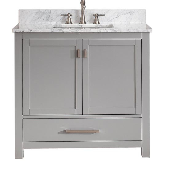 Ordinaire Avanity Modero (single) 36 Inch Chilled Gray Vanity Cabinet U0026 Optional  Countertops