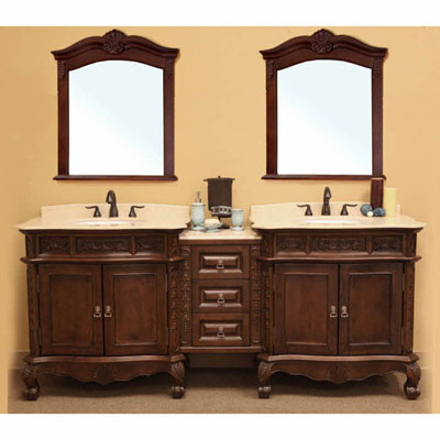 Montreal Double 83 Inch Traditional Modular Vanity Set With Mirror Option