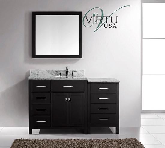 Virtu Usa Caroline Parkway Single 56 4 Inch Left Sided