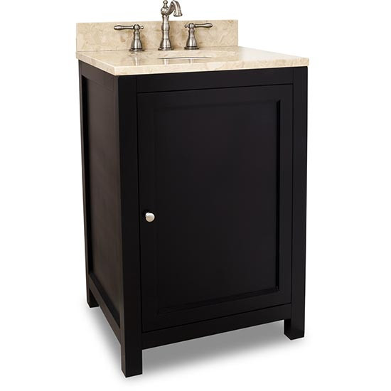 Hardware Resources Astoria Modern Single 24 Inch Transitional Bathroom Vanity Espresso