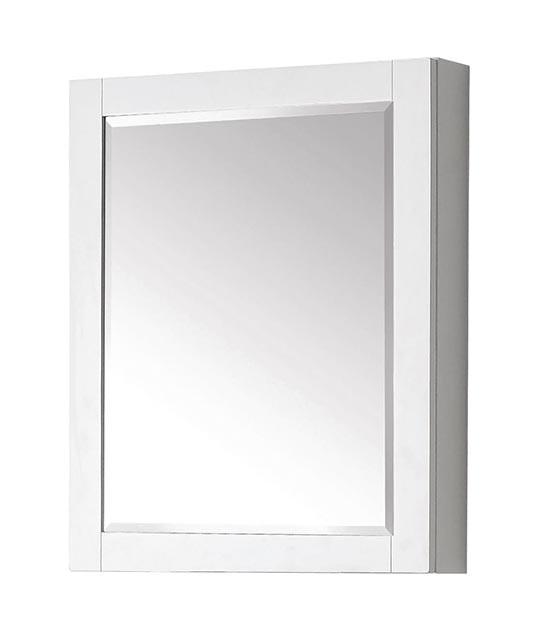 Avanity Brooks Modero 24 Inch Modern Bathroom Mirror Medicine Cabinet White