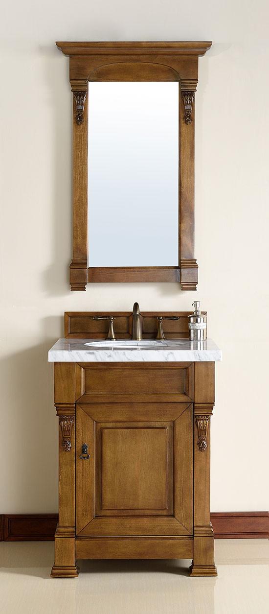 James Martin Brookfield (single) 26-Inch Country Oak Vanity Cabinet & Optional Countertops