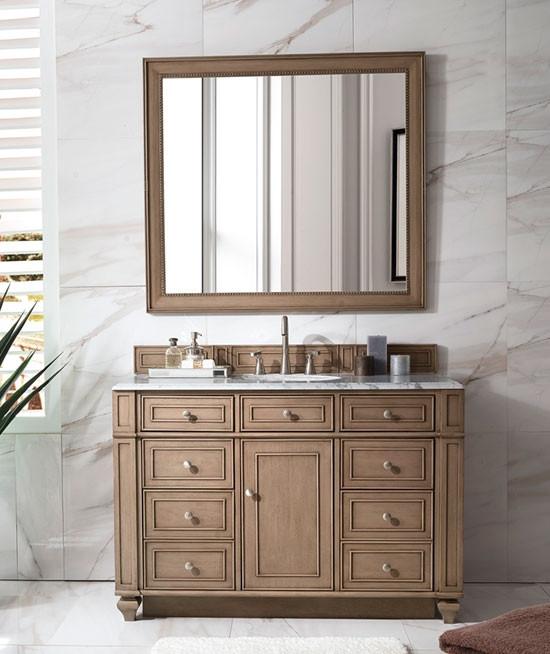 Bathroom Vanity White Washed Walnut, 48 White Washed Bathroom Vanity