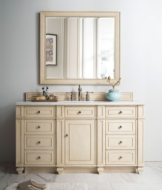 James Martin Bristol (single) 60 Inch Vintage Vanilla Vanity Cabinet U0026  Optional Countertops