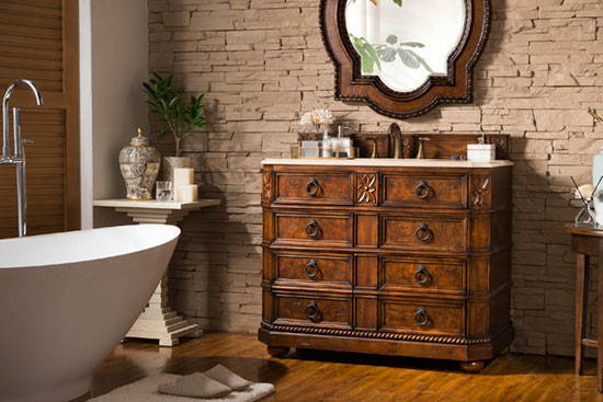 James Martin Regent (single) 40.5-Inch English Burl Traditional Bathroom Vanity