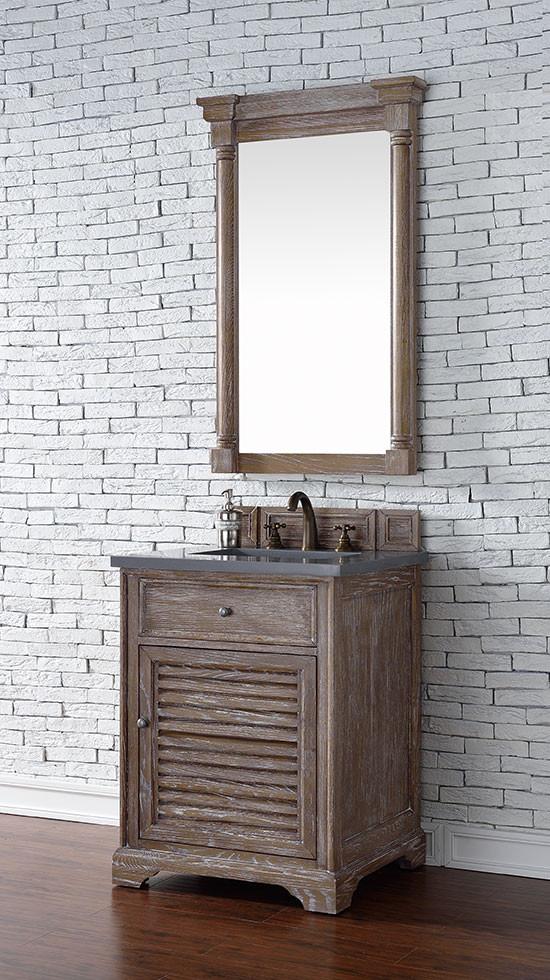 James Martin Savannah Single 26 Inch Transitional Bathroom Vanity Driftwood
