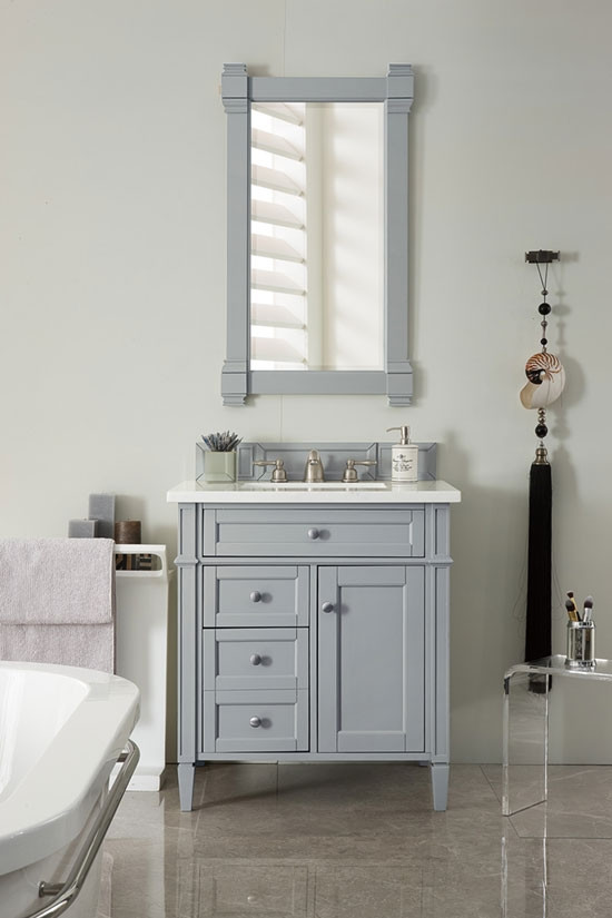 James Martin Brittany (single) 30 Inch Transitional Bathroom