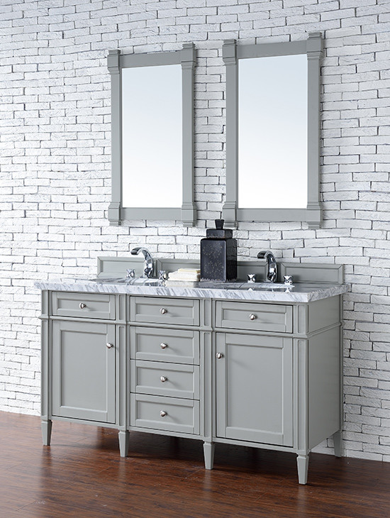 James Martin Brittany (double) 60-Inch Urban Gray Vanity Cabinet & Optional Countertops