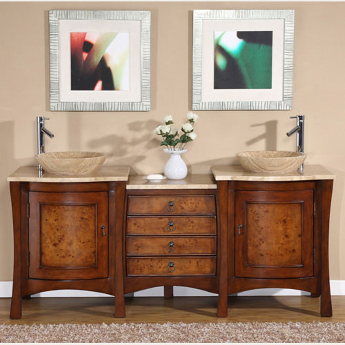 Milan (double) 72-Inch Transitional Bathroom Vanity
