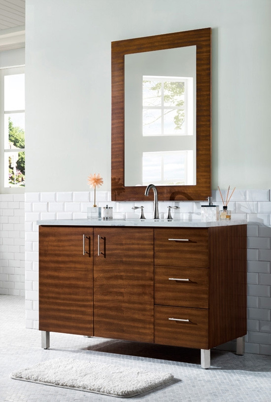 48 Inch Modern Bathroom Vanity, What Size Mirror Goes With A 48 Inch Vanity