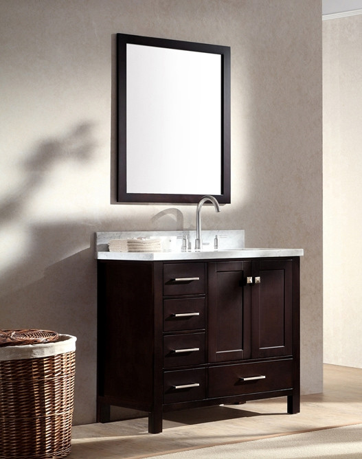Ariel Cambridge Single 37 Inch Modern Bathroom Vanity