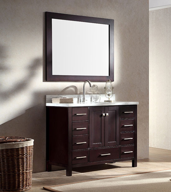 ariel cambridge single 43 inch modern bathroom vanity set espresso rh bathvanityexperts com 43 inch bathroom vanity home depot 43 inch bathroom vanity cabinet