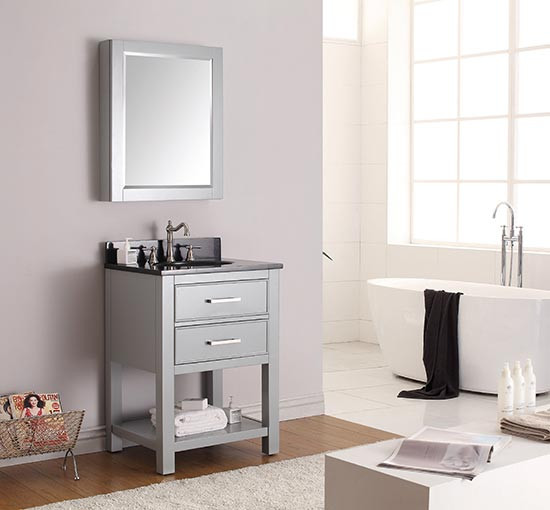Delicieux Avanity Brooks (single) 25 Inch Transitional Bathroom Vanity   Chilled Gray