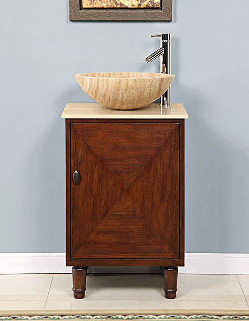 Curtis (single) 20-Inch Vessel-Mount Pedestal Bathroom Vanity