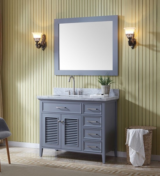 ariel kensington single 43 inch transitional bathroom vanity set rh bathvanityexperts com 43 inch bathroom vanity lowes 43 inch bathroom vanity without top