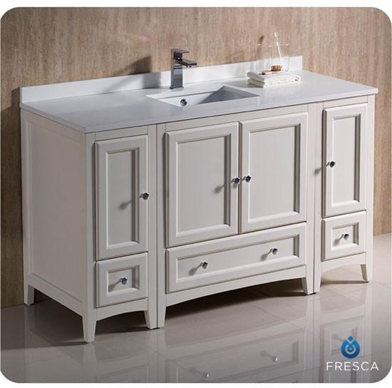 Fresca Oxford Single 54 Inch Transitional Modular Bathroom Vanity Antique White