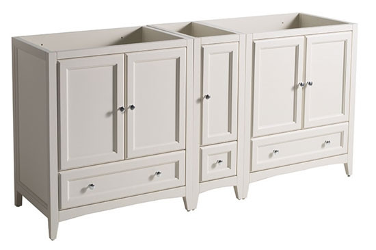 Fresca Oxford (double) 71-Inch Antique White Transitional Modular Bathroom Vanity - Cabinet Only